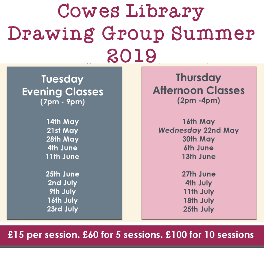Summer_2019_Dates_Cowes_Library_Drawing_Group